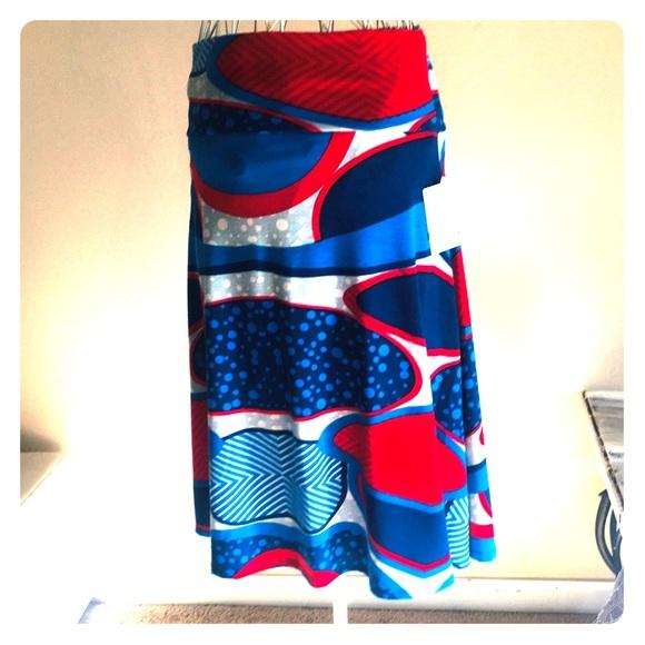 LulaRoe multi colored skirt